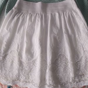 Girls Candies white embroidered skirt